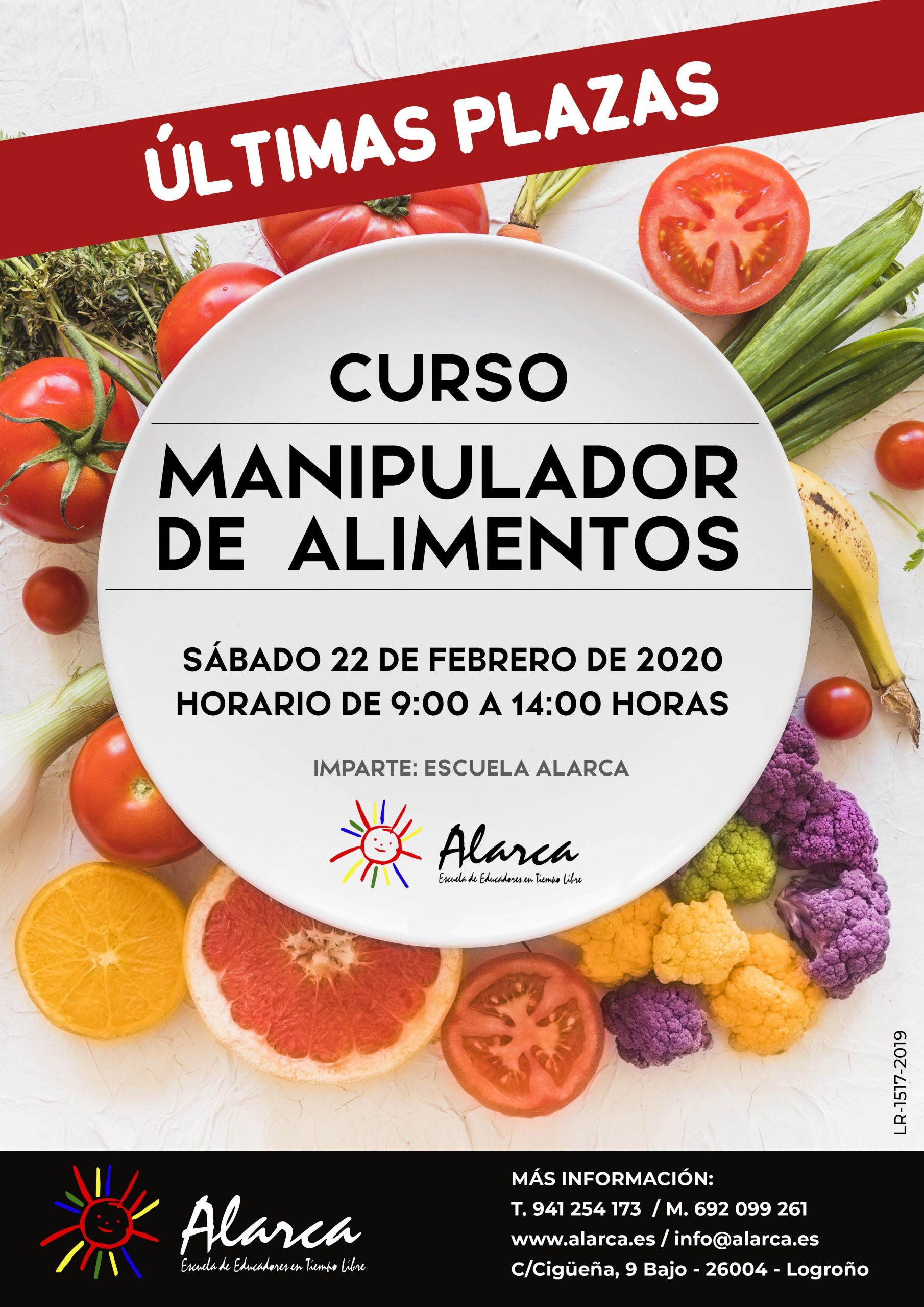 Curso manipulador alimentos 2020 ultimas plazas